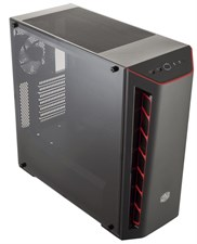 Cooler Master MasterBox MB510L Red Trim  Transparent Side Panel - Mid-Tower Case