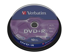 verbatim dvd+R spindle/10 43498