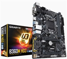 Gigabyte B360M HD3 Intel B360 Ultra Durable Motherboard