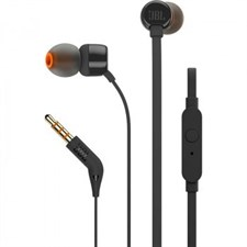 JBL T110 In-Ear Earphones- T110BLK