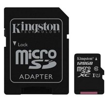 KINGSTON 128GB MICRO-SDHC CARD CLASS 10