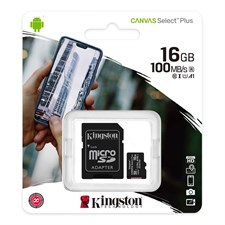 Kingston Canvas Select Plus microSD Card 16GB SDCS2/16GB
